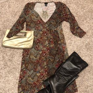 Chapter One faux wrap dress